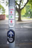 Pedestian Safety Crossing Sign. Stock Photo