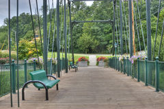 Pedestrain Brücke Lizenzfreies Stockbild
