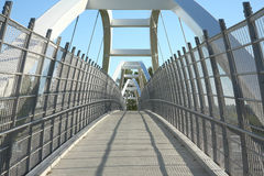 Pedestrain bridge Royalty Free Stock Photo