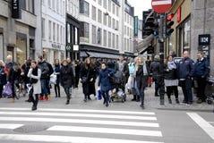 Pedestrain street scene Royalty Free Stock Images