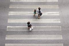 Pedestre do cruzamento Imagens de Stock Royalty Free