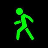 Pedestre do símbolo do pixel Imagens de Stock Royalty Free