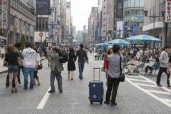 Pedestre Ginza Imagem de Stock Royalty Free