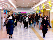 Pedestres, caminhada de Namba, Osaka, Japão Foto de Stock Royalty Free