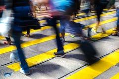 Pedestres na central de Hong Kong Fotografia de Stock