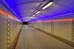 Pedestrial tunnel Royalty Free Stock Images