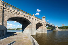 Pedestrian Andreevsky bridge in Moscow Royalty Free Stock Image