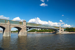 Pedestrian Andreevsky bridge in Moscow Stock Photo