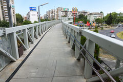 Pedestrian aqueduct in Burgas, Bulgaria Stock Photo