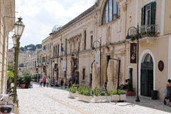 Pedestrian area in Matera Royalty Free Stock Photos