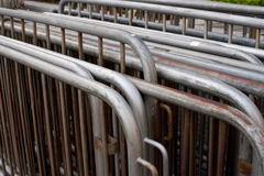 Pedestrian barriers. Bunch of pedestrian barriers at the street Royalty Free Stock Photography