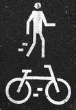 Pedestrian and bicycle Royalty Free Stock Photo