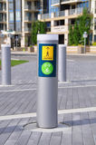 Pedestrian and bicycle path signage Stock Image