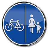 Pedestrian and bicycle way Stock Images