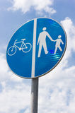 Pedestrian and bicyle sign Royalty Free Stock Photography