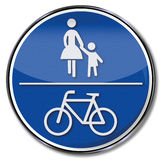 Pedestrian and bike path. And  traffic security Stock Image
