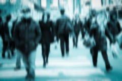 Pedestrian Blur Stock Photo