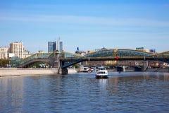Pedestrian Bogdan Khmelnitsky Bridge Stock Images