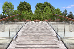 Pedestrian bridge Royalty Free Stock Photo