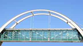 Pedestrian bridge Royalty Free Stock Photography