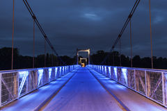 Pedestrian bridge above Loire River in Tours Royalty Free Stock Image
