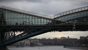 A pedestrian bridge stock footage
