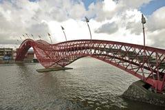 Pedestrian bridge in Amsterdam the Netherlands Stock Photo