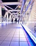 Pedestrian Bridge At Night Stock Photography