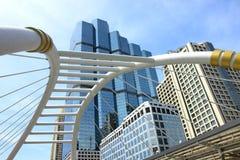 Pedestrian bridge Bangkok Royalty Free Stock Photos