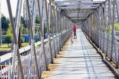 Pedestrian bridge Stock Images