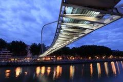 Pedestrian bridge in Bilbao, Spain Stock Images