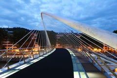 Pedestrian bridge in Bilbao, Spain Stock Photography