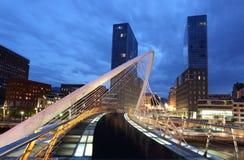 Pedestrian bridge in the city of Bilbao Stock Photography