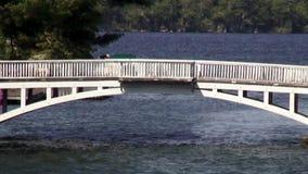 Pedestrian Bridge, Commuters Royalty Free Stock Photos