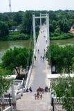 Pedestrian bridge between Europe and Asia Stock Photography
