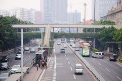Pedestrian bridge Royalty Free Stock Photography