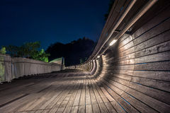 Pedestrian bridge of the Henderson Waves on Mount Faber Royalty Free Stock Image