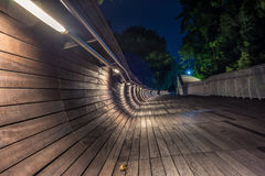 Pedestrian bridge of the Henderson Waves on Mount Faber Stock Images