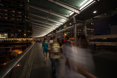 Pedestrian bridge in Hong Kong Royalty Free Stock Image