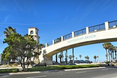 Pedestrian Bridge Huntington Beach Stock Image