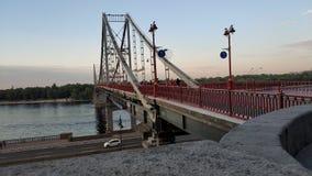 Pedestrian bridge, Kiev, Ukraine Stock Images
