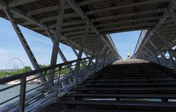 Pedestrian Bridge Léopold-Sédar-Senghor stock photography