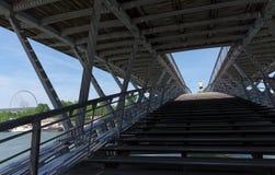 Pedestrian Bridge Léopold-Sédar-Senghor stock photography