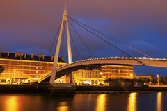 Pedestrian bridge in Le Havre Royalty Free Stock Photography