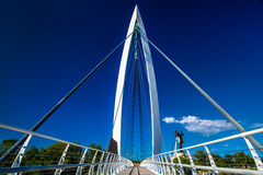 Pedestrian bridge Royalty Free Stock Photos