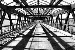 Pedestrian bridge. Modern pedestrian bridge in moscow Stock Photography