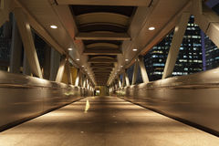 Pedestrian Bridge at night Royalty Free Stock Images