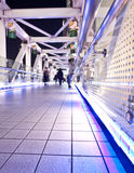 Pedestrian bridge at night Stock Photography