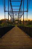 Pedestrian bridge over the American River - Folsom, California Stock Photos