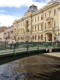 Pedestrian Bridge over the Griboedov Canal Royalty Free Stock Images